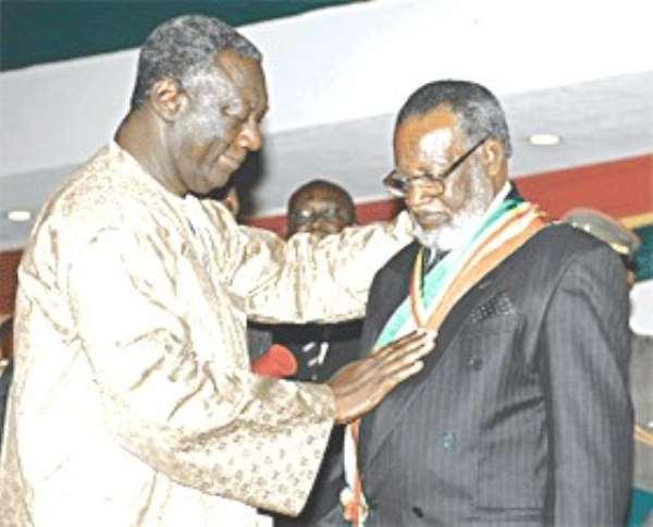 Ghana honours President Nujoma