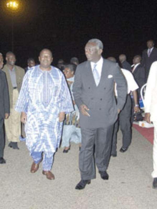President Kufuor to dump VP Aliu Mahama?