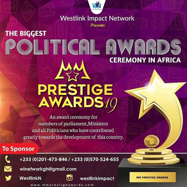 Westlink Impact Network To Hold Political Awards Ceremony For MPs, Ministers And Politicians