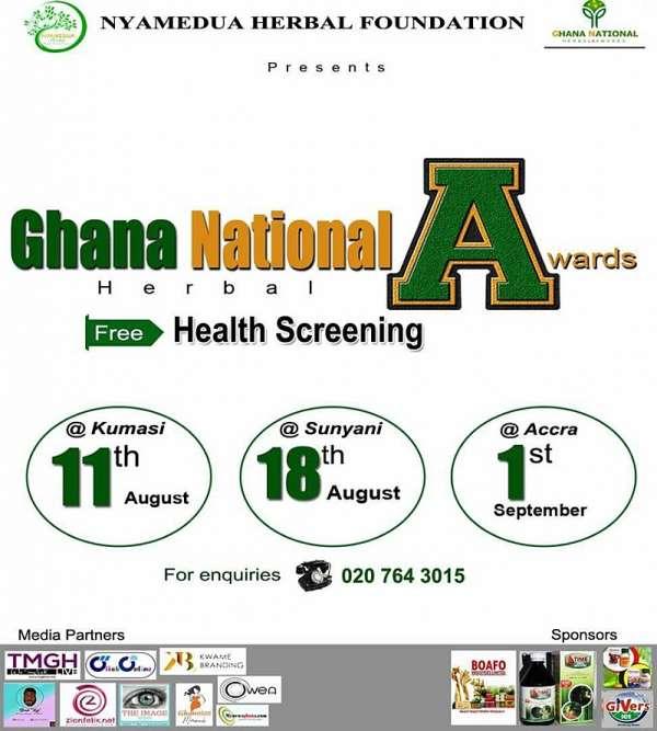 Nyamedua Herbal Foundation to organize free health screening ahead of the Ghana National Herbal Awar