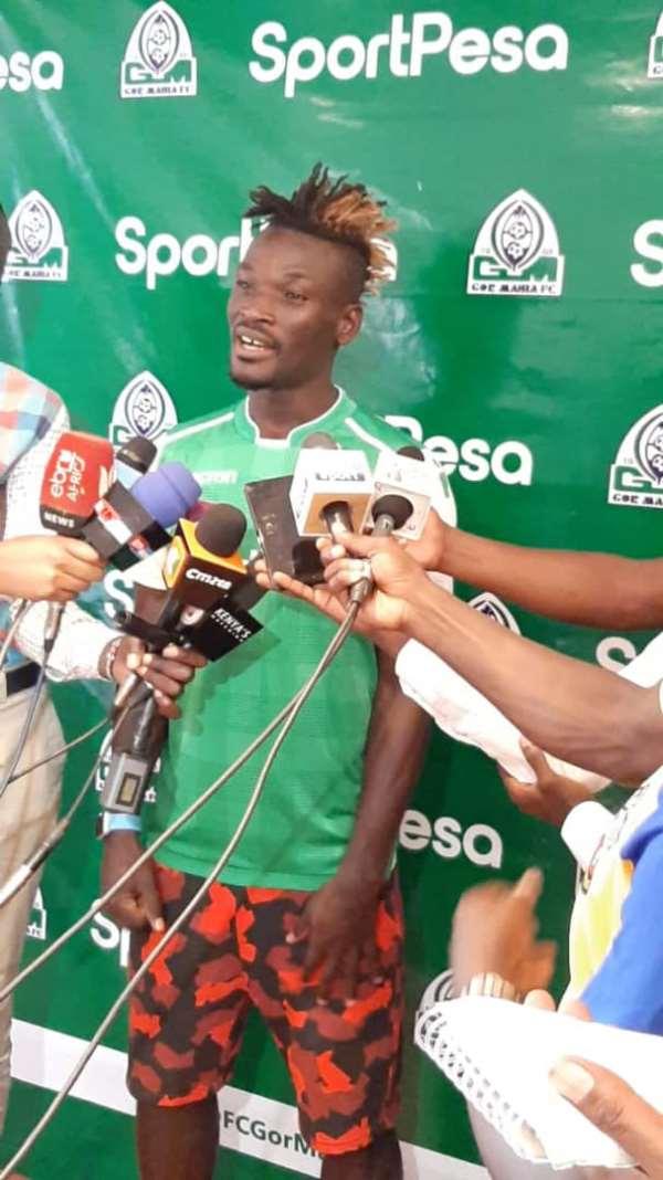 Gor Mahia Unveils Ghana's Francis Afriyie To Fans