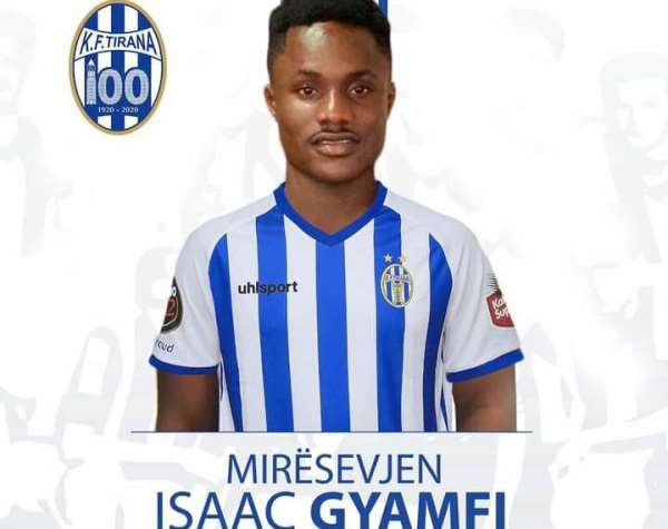 OFFICIAL: KF Tirana Sign Ghanaian Youngster Isaac Gyamfi