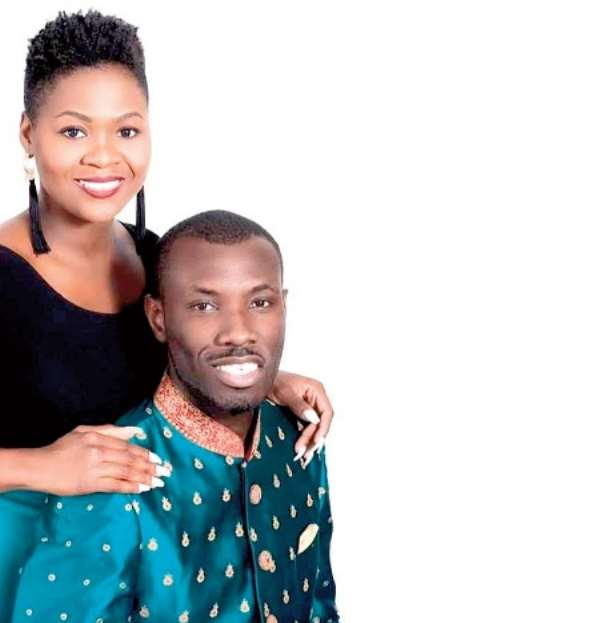 HAPPIER TIMES! Prophet Sylvester Ofori and his late wife, Barbara Tommey