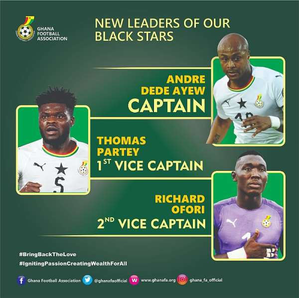 Black Stars Technical Team Maintains Andre Ayew As Team Captain