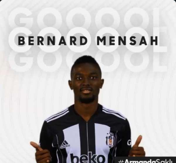 Bernard Mensah Scores For Besiktas As League Debut Ends In Victory At Trabzonspor