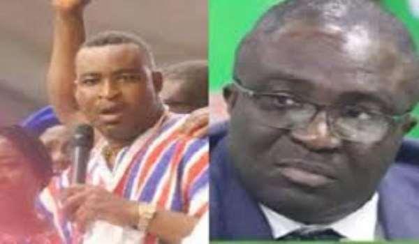 Ashanti Regional chairman of the NPP, Bernard Antwi Boasiako and MP for Subin, Eugene Boakye Antwi