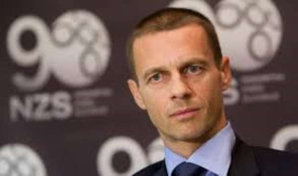Ceferin elected UEFA president as banned Platini bids farewell