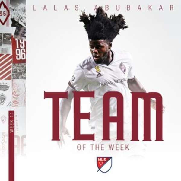 In-form Lalas Abubakar Named In MLS ToTW For Week 11
