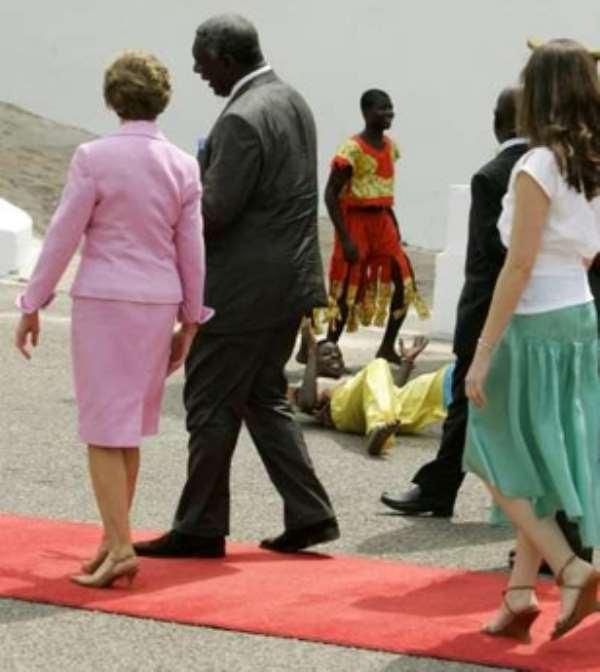 Mrs Bush ends Ghana visit