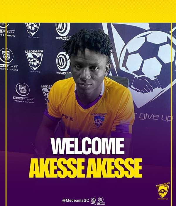 Medeama SC sign prolific striker Akesse Akesse on a four-year deal