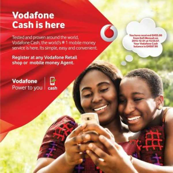Vodafone pays cash to mobile money customers