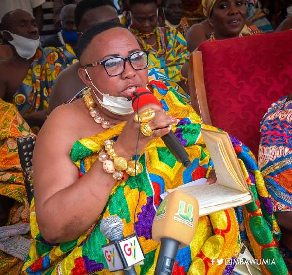 We Will Give You 4 More Years For Fixing Our Roads—Kansaworodo Queenmother Assures Akufo-Addo