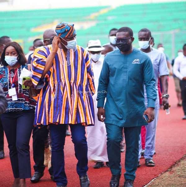 Sports Minister inspects renovated Baba Yara Sports Stadium