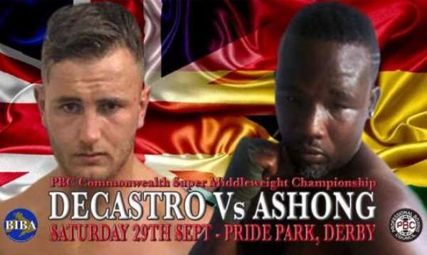 Ghana's Ashong To Face Decastro For PBC Commonwealth Title