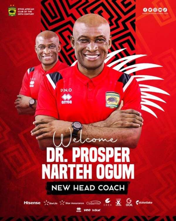 I will do my best for Asante Kotoko - Prosper Narteh Ogum pledges
