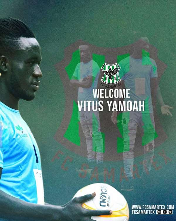 FC Samartex strengthens squad with the signing of midfielder Vitus Yamoah