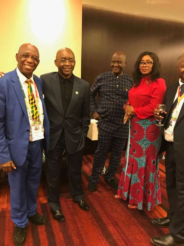 ECONET Founder And Chairman Meets Dr Thomas Mensah At AGRF Conference