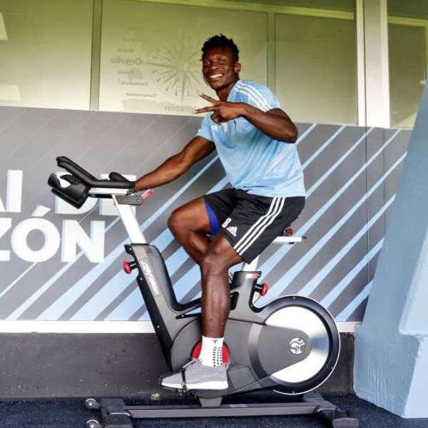 Joseph Aidoo Returns To Celta Vigo Training After Head Injury Against Atletico Madrid [PHOTOS]