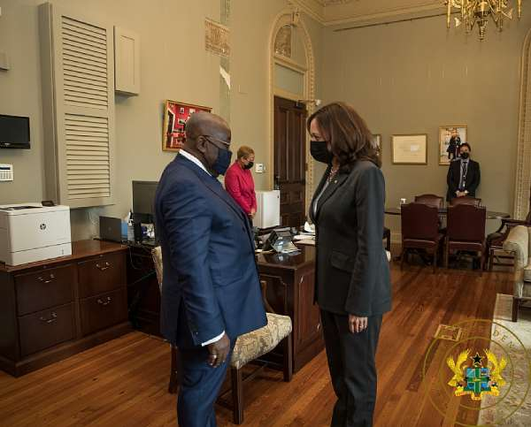 Akufo-Addo holds fruitful bilateral talks with US Vice President Kamala Harris