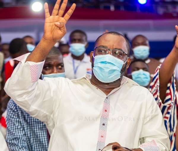 Napo making the NPP's famous 'Four more for Nana to do more' gesture