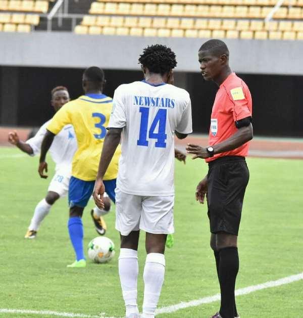 2022 WCQ:  Atcho Ghislain officiates Ghana against Zimbabwe in Cape Coast