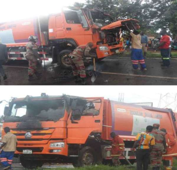 Driver And Two Mates Survive Fire Scare