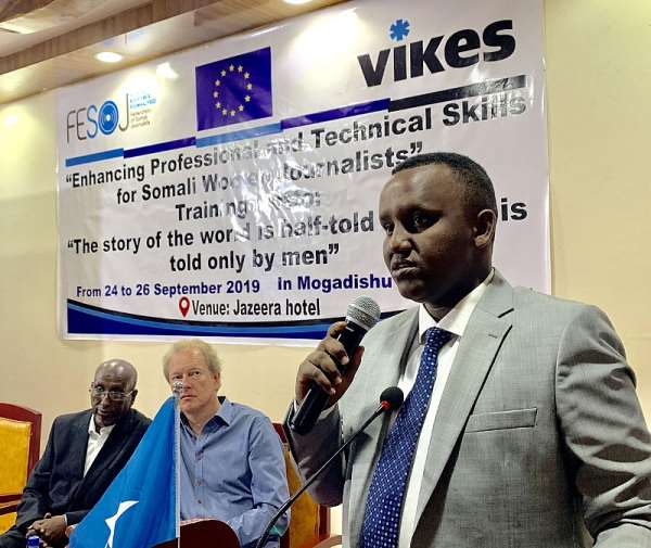FESOJ, VIKES Kick Off Three Day Training On Enhancing Professional And Technical Skills For 30 Female Journalists In Mogadishu