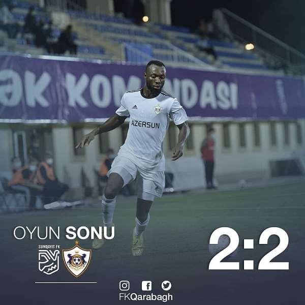 Kwabena Owusu Scores for Qarabağ FK In Draw At Sumqayıt FK