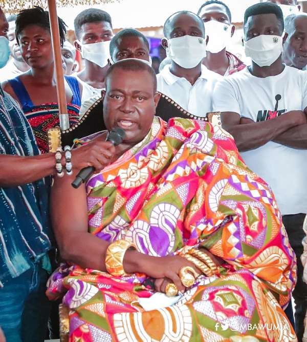 Daasebre Okogyeaman Duodu Ampem III, Nsawkaw Chief, who spoke on behalf of the Tain Chiefs