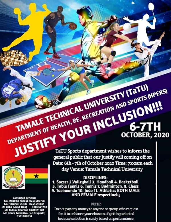 Tamale Technical University To Hold Justify Your Inclusion Exercise