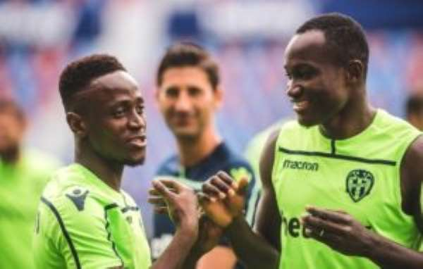 Emmanuel Boateng In, Dwamena Left Out Of Levante Squad For Valladolid Clash