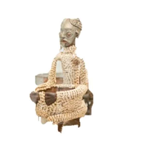 Ngonso Stool, Nso, Cameroon, now in Humboldt Forum, Berlin, Germany.