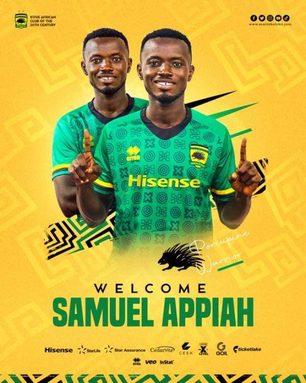 Asante Kotoko announce Samuel Appiah signing from Medeama SC
