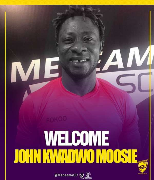 Medeama SC strengthens squad with the signing of goalkeeper John Moosie