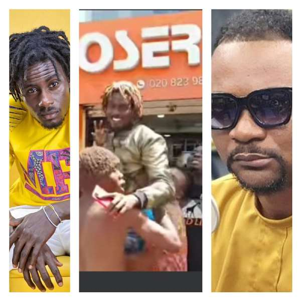 Fans of Dancehall artist Masaany storm Hitz Fm after his encounter with Mr. Logic on live radio