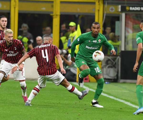 KP Boateng Features In Fiorentina Big Win Over AC Milan