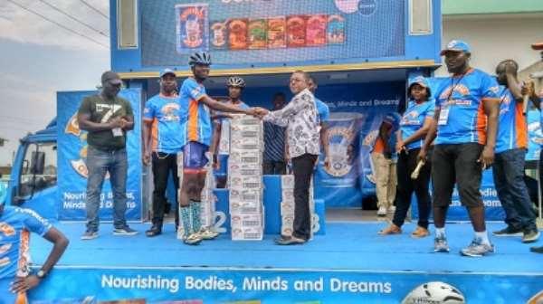 16 Years Old Alex Allotey Wins Homowo Cowbell Cycling At Prampram