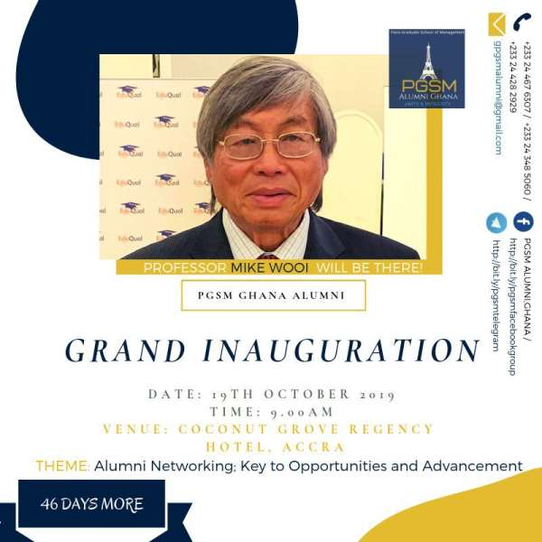 Alumni Of Paris Graduate School Of Management Holds Formal Inauguration On October 19th