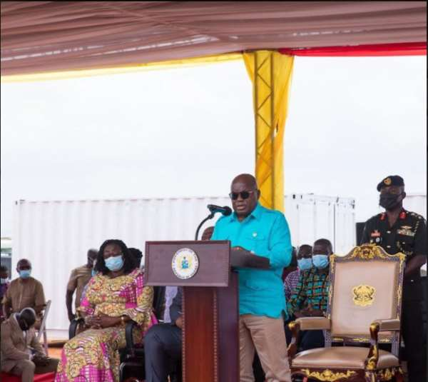 Ghana President Nana Akufo-Addo has cut the first sod on a new sports complex being constructed for the 2023 African Games ©The Presidency Republic of Ghana