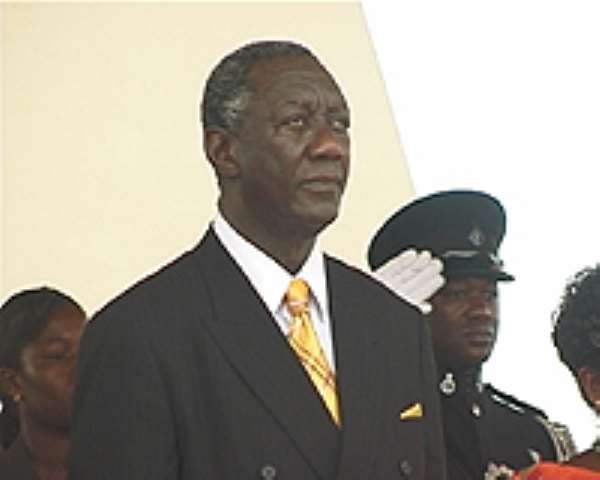 President Kufuor Arrives in Malabo