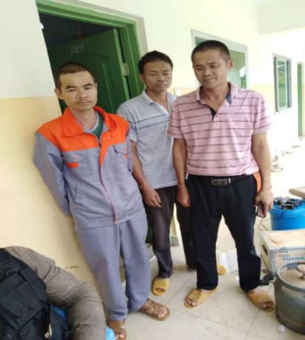 3 Chinese, 1 Ghanaian Illegal Miner Arrested