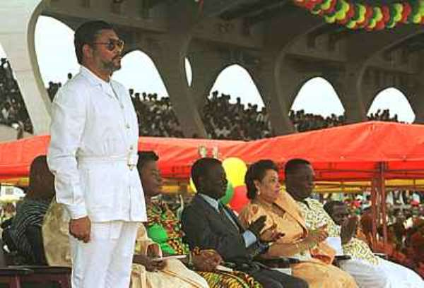 Rawlings worried about corruption and injustices