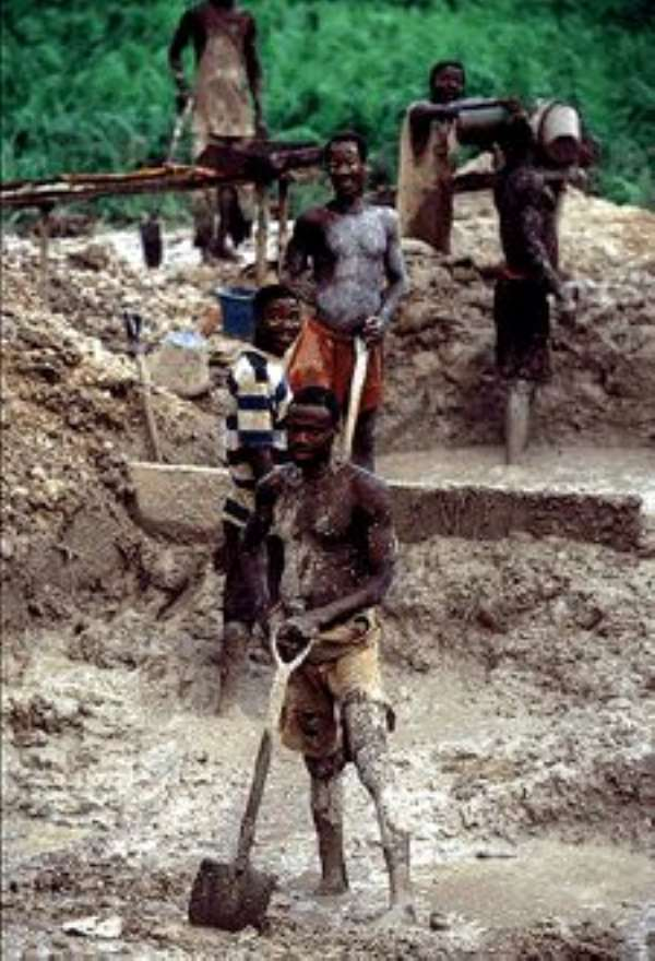 Five Illegal Miners Buried Alive
