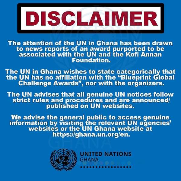 UN Speaks On Dr UN's Fake Awards Saga