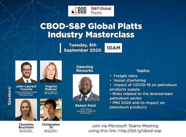 CBOD, S&P Global Platts To Hold Industry Masterclass On Impact Of COVID-19 On Petroleum Products Supply