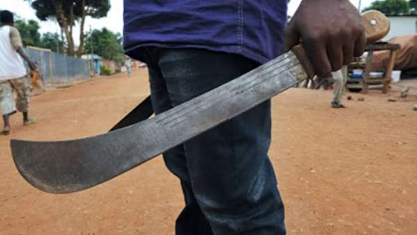 10-year-old girl's neck slashed with cutlass by her Uncle for sitting in front of his door