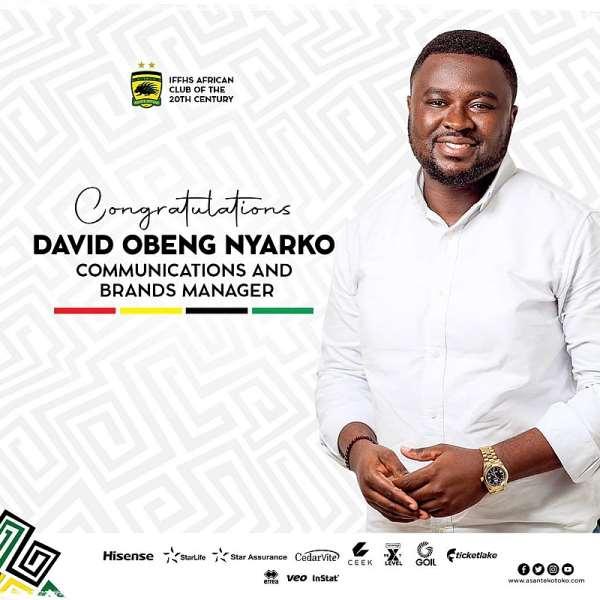 David Obeng Nyarko confirmed Asante Kotoko as Communication Manager