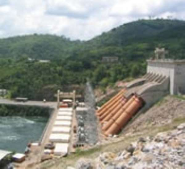Water level in Akosombo Dam