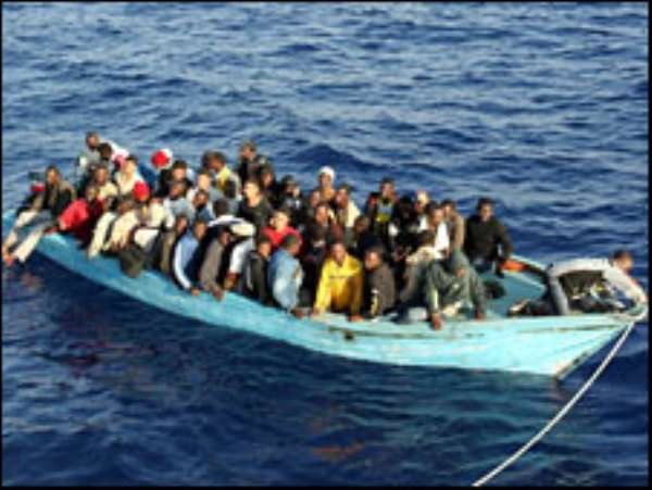 20 die as smugglers force migrants overboard
