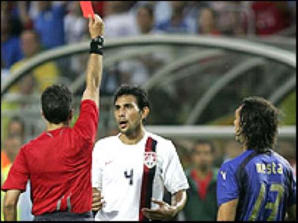 Mastroeni gets his marching orders in an explosive Group E tie